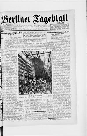 Berliner Tageblatt und Handels-Zeitung vom 17.05.1922