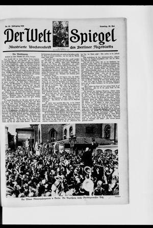 Berliner Tageblatt und Handels-Zeitung vom 28.05.1922