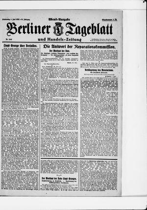 Berliner Tageblatt und Handels-Zeitung vom 01.06.1922