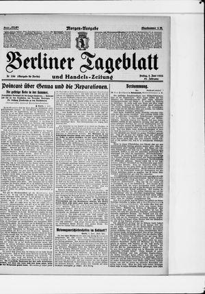 Berliner Tageblatt und Handels-Zeitung vom 02.06.1922