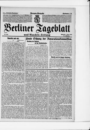 Berliner Tageblatt und Handels-Zeitung vom 07.06.1922