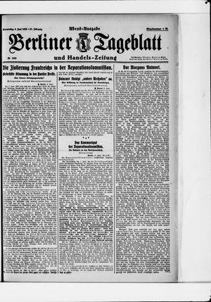 Berliner Tageblatt und Handels-Zeitung vom 08.06.1922