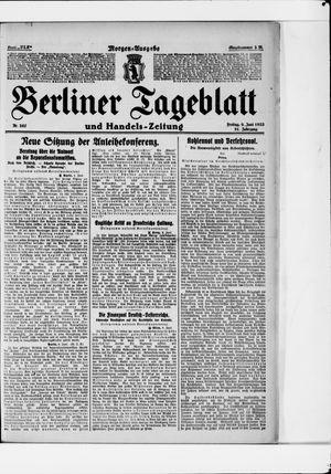 Berliner Tageblatt und Handels-Zeitung vom 09.06.1922