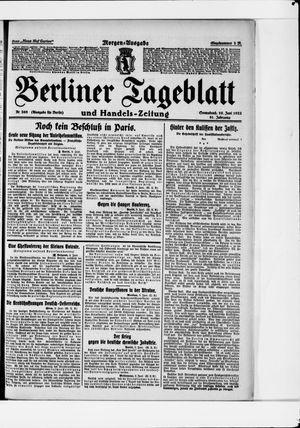 Berliner Tageblatt und Handels-Zeitung vom 10.06.1922