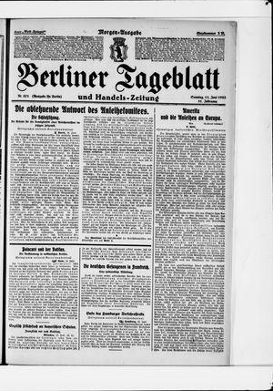 Berliner Tageblatt und Handels-Zeitung vom 11.06.1922