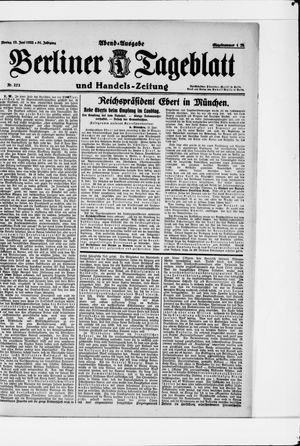 Berliner Tageblatt und Handels-Zeitung vom 12.06.1922