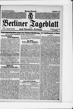 Berliner Tageblatt und Handels-Zeitung vom 14.06.1922