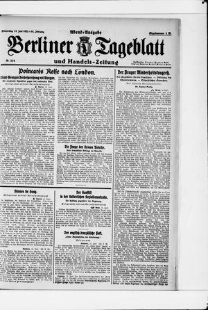 Berliner Tageblatt und Handels-Zeitung vom 15.06.1922