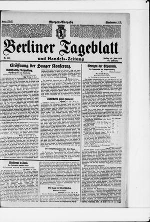 Berliner Tageblatt und Handels-Zeitung vom 16.06.1922