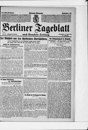 Berliner Tageblatt und Handels-Zeitung vom 17.06.1922
