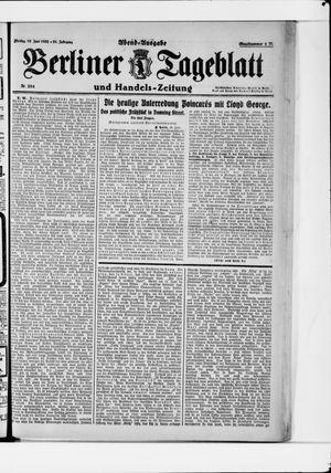 Berliner Tageblatt und Handels-Zeitung vom 19.06.1922