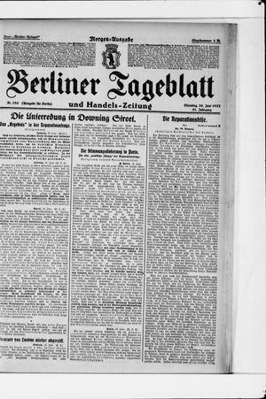 Berliner Tageblatt und Handels-Zeitung vom 20.06.1922