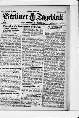 Berliner Tageblatt und Handels-Zeitung vom 21.06.1922