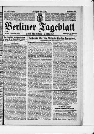 Berliner Tageblatt und Handels-Zeitung vom 22.06.1922