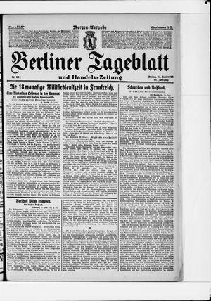 Berliner Tageblatt und Handels-Zeitung vom 23.06.1922