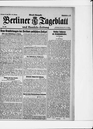 Berliner Tageblatt und Handels-Zeitung vom 27.06.1922
