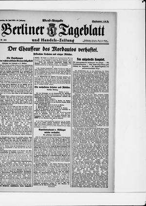 Berliner Tageblatt und Handels-Zeitung vom 29.06.1922