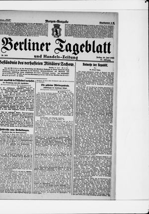 Berliner Tageblatt und Handels-Zeitung vom 30.06.1922