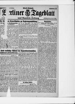 Berliner Tageblatt und Handels-Zeitung vom 13.07.1922