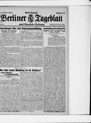 Berliner Tageblatt und Handels-Zeitung vom 14.07.1922
