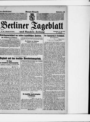 Berliner Tageblatt und Handels-Zeitung vom 15.07.1922