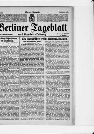 Berliner Tageblatt und Handels-Zeitung vom 16.07.1922