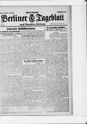 Berliner Tageblatt und Handels-Zeitung vom 19.07.1922