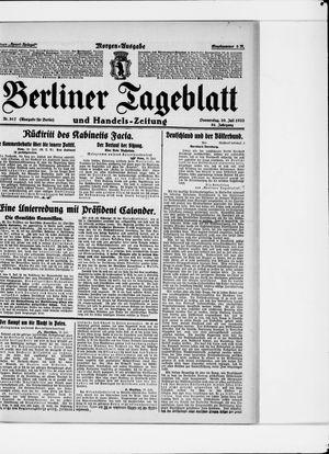 Berliner Tageblatt und Handels-Zeitung vom 20.07.1922