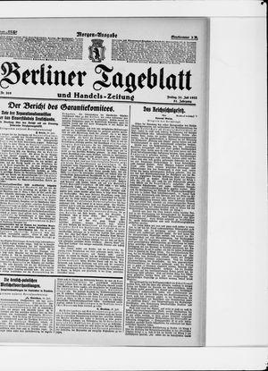 Berliner Tageblatt und Handels-Zeitung vom 21.07.1922