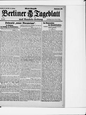 Berliner Tageblatt und Handels-Zeitung vom 22.07.1922