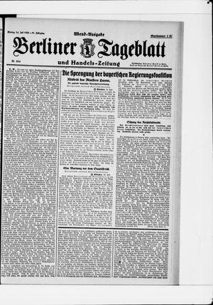 Berliner Tageblatt und Handels-Zeitung vom 24.07.1922