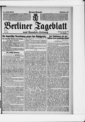 Berliner Tageblatt und Handels-Zeitung vom 25.07.1922