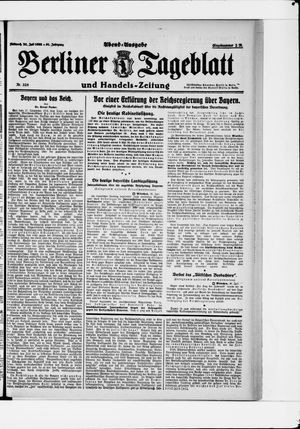 Berliner Tageblatt und Handels-Zeitung vom 26.07.1922