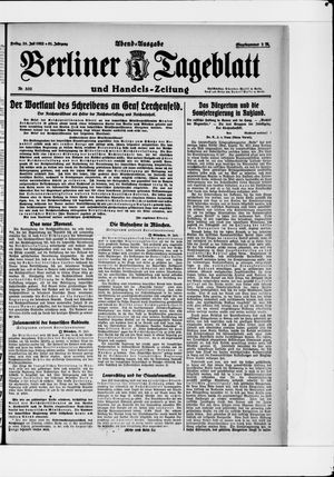 Berliner Tageblatt und Handels-Zeitung vom 28.07.1922