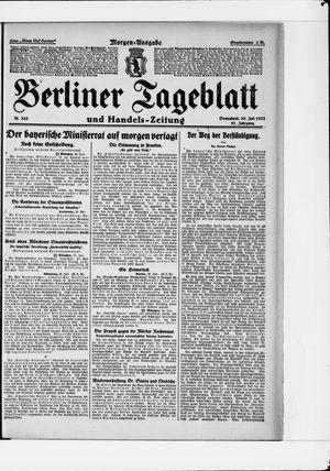 Berliner Tageblatt und Handels-Zeitung vom 29.07.1922