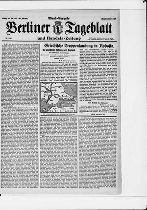 Berliner Tageblatt und Handels-Zeitung vom 31.07.1922