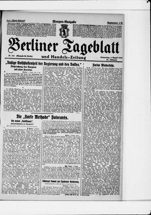 Berliner Tageblatt und Handels-Zeitung vom 03.08.1922