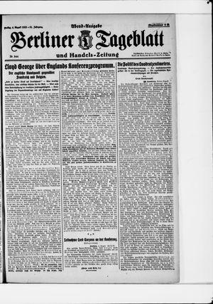 Berliner Tageblatt und Handels-Zeitung vom 04.08.1922