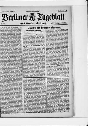 Berliner Tageblatt und Handels-Zeitung vom 07.08.1922