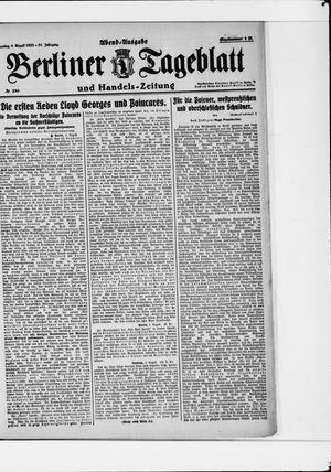 Berliner Tageblatt und Handels-Zeitung vom 08.08.1922