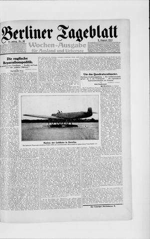 Berliner Tageblatt und Handels-Zeitung vom 09.08.1922