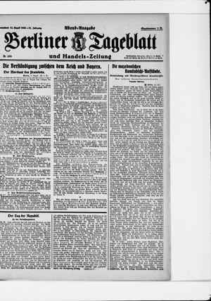 Berliner Tageblatt und Handels-Zeitung vom 12.08.1922
