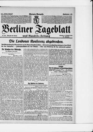 Berliner Tageblatt und Handels-Zeitung vom 15.08.1922