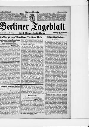 Berliner Tageblatt und Handels-Zeitung vom 19.08.1922