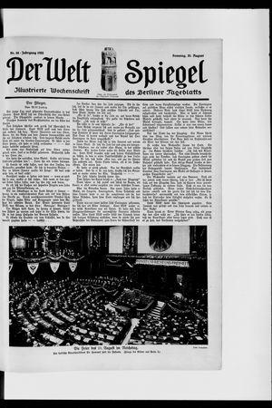 Berliner Tageblatt und Handels-Zeitung vom 20.08.1922