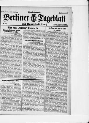 Berliner Tageblatt und Handels-Zeitung vom 22.08.1922