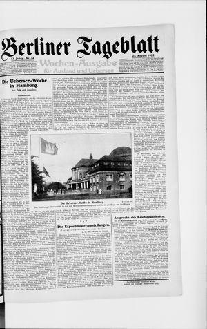 Berliner Tageblatt und Handels-Zeitung vom 23.08.1922