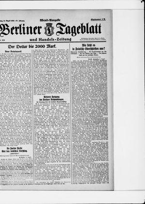 Berliner Tageblatt und Handels-Zeitung vom 24.08.1922