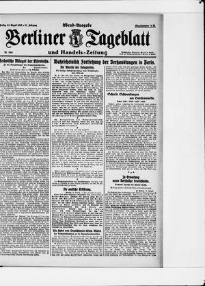 Berliner Tageblatt und Handels-Zeitung vom 25.08.1922