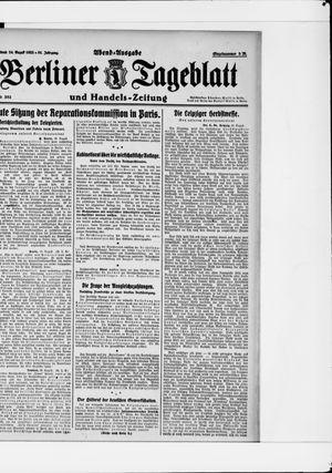 Berliner Tageblatt und Handels-Zeitung vom 26.08.1922